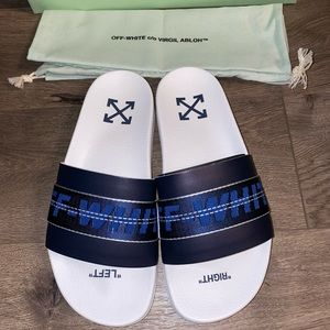 OFF-WHITE Industrial Leather Slides